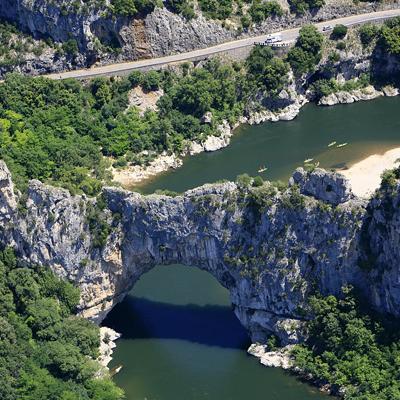 Découverte des Gorges de l'Ardèche (25 minutes)